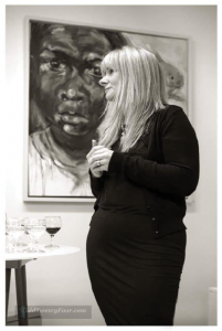 Irish award-winning Artist Bernadette Doolan at Exhibition opening in Wexford Ireland
